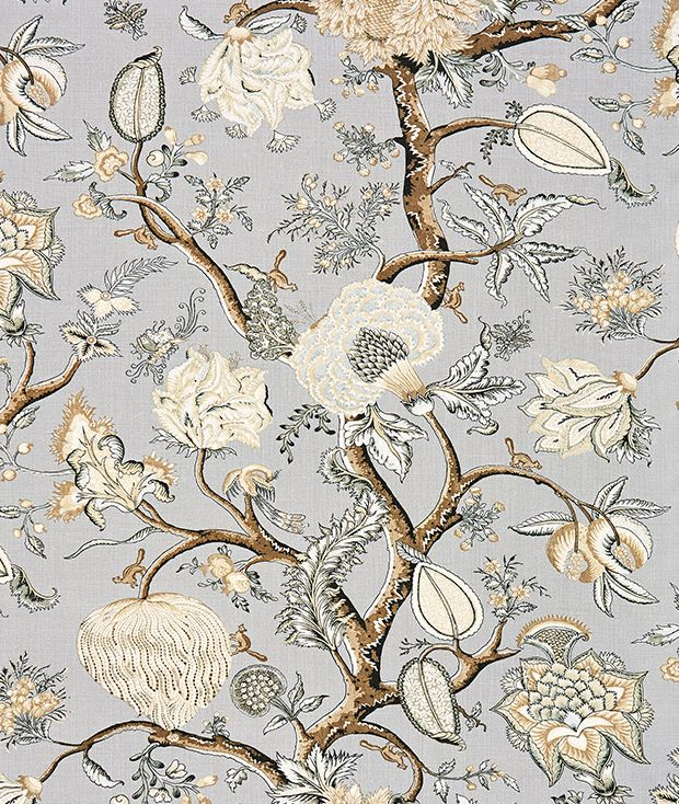 Pondicherry Linen Print in Mineral